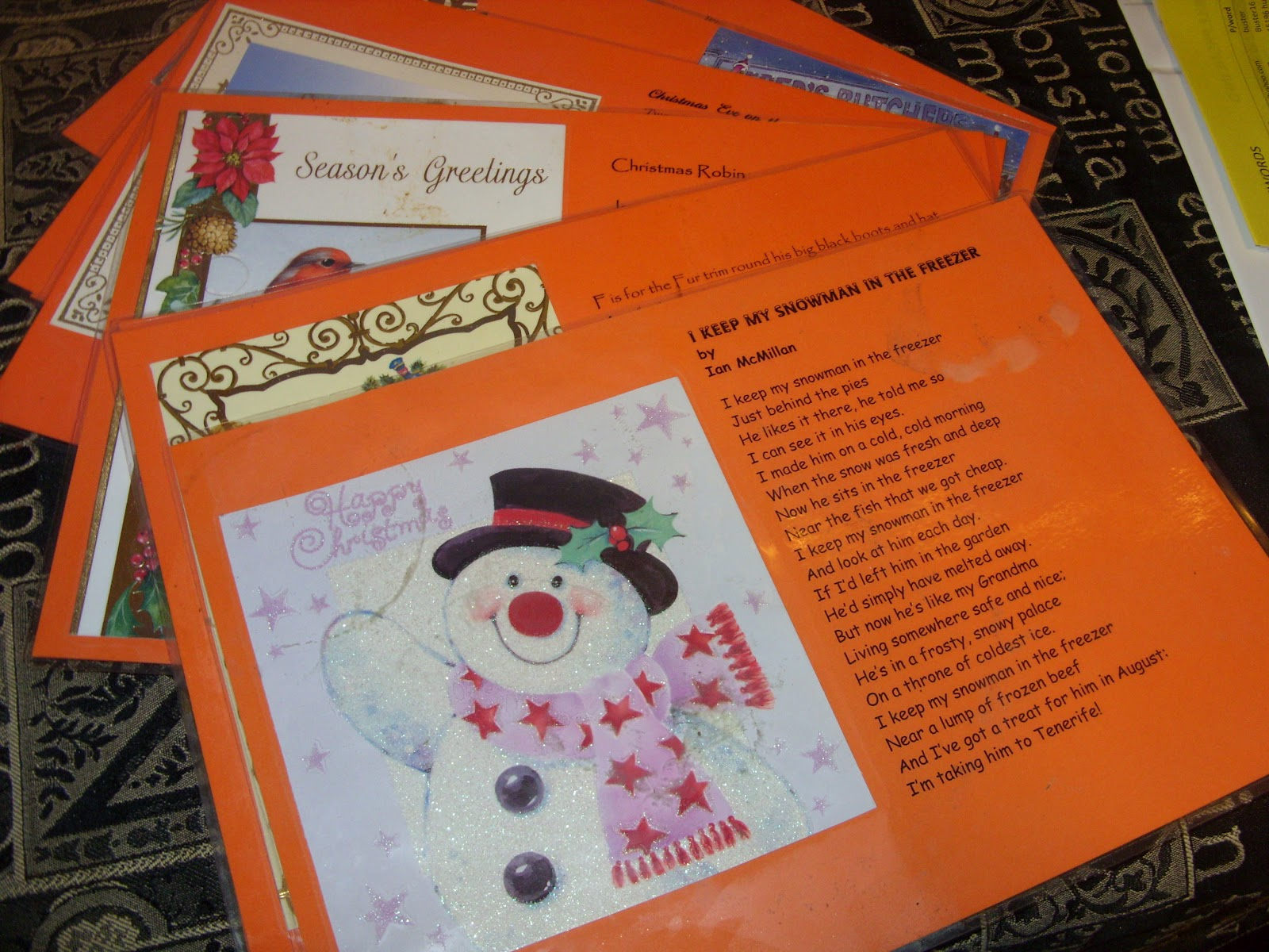 Life at the seaside lancashire england recycled for How to recycle old christmas cards