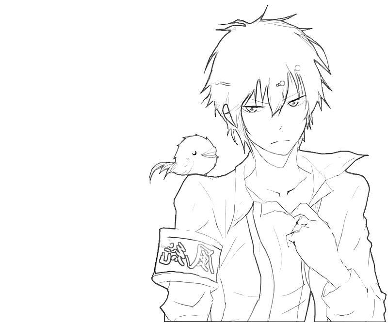 printable-kyoya-hibari-funny-coloring-pages