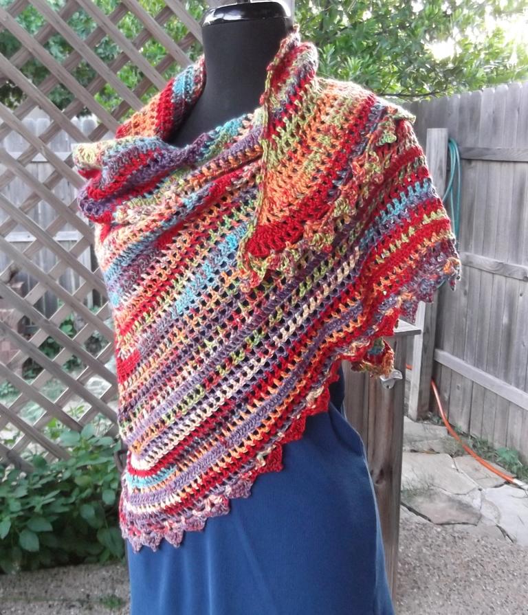 Crochet Pattern For Bohemian Shawl : Scottys Place: Boho Hippie Shawl