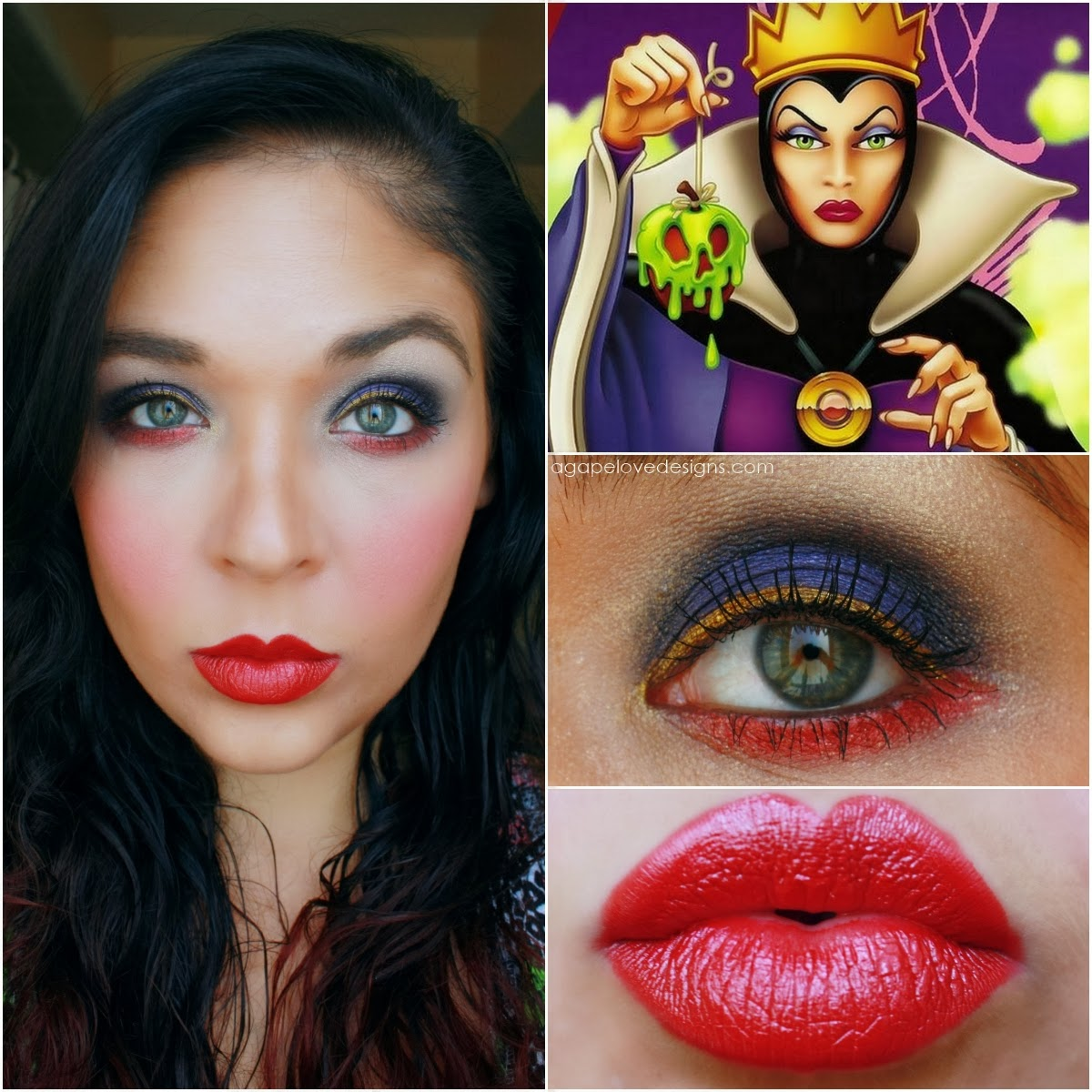 Agape love designs snow whites villain the evil queen inspired i hated the first look i created so did it again also i tried my best to look evil its kind of hard oh well so here is my final look inspired by baditri Choice Image