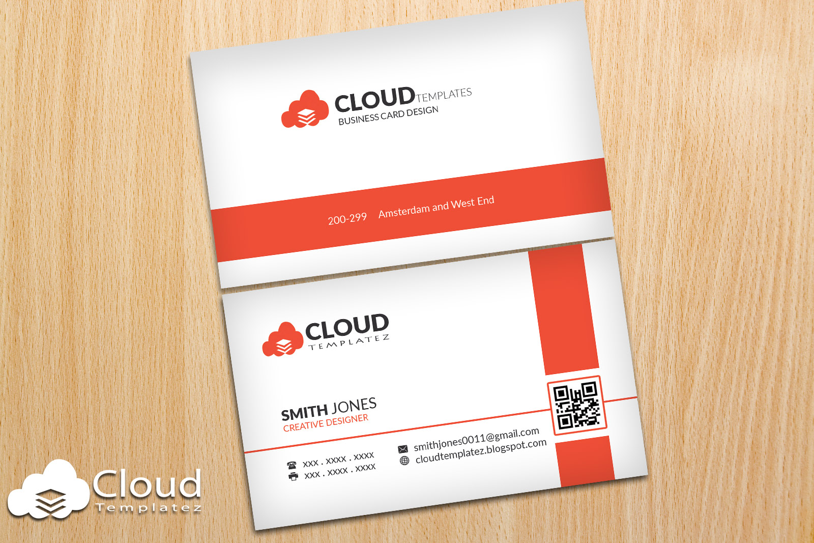 Simple clean creative business card template cloud templatez simple clean creative business card template flashek