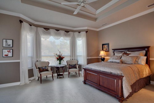 white master bedroom window treatment ideas