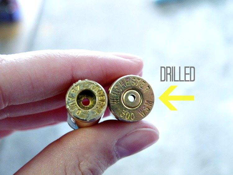 How to drill a small hole in shell casing