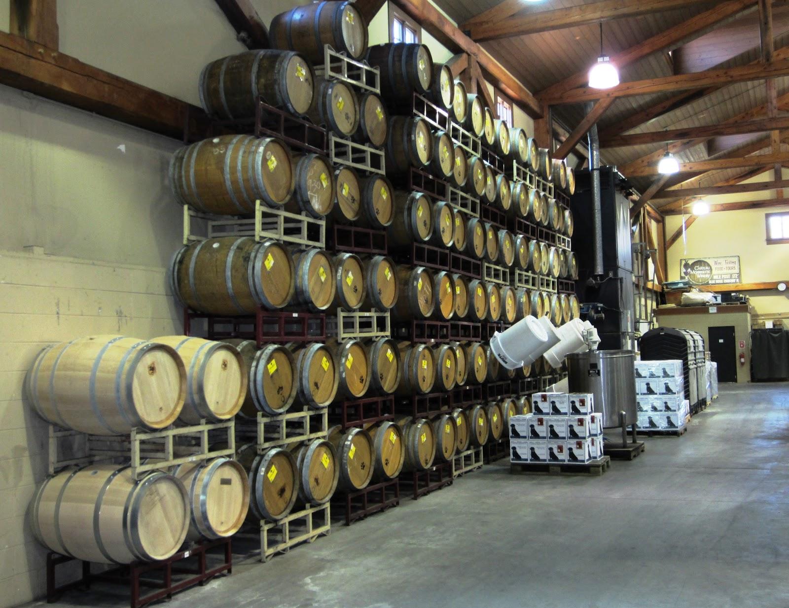 storage oak wine barrels. On Right, Oak Barrels Used To Age Wines Needing An Oaky Flavor. Storage Wine E