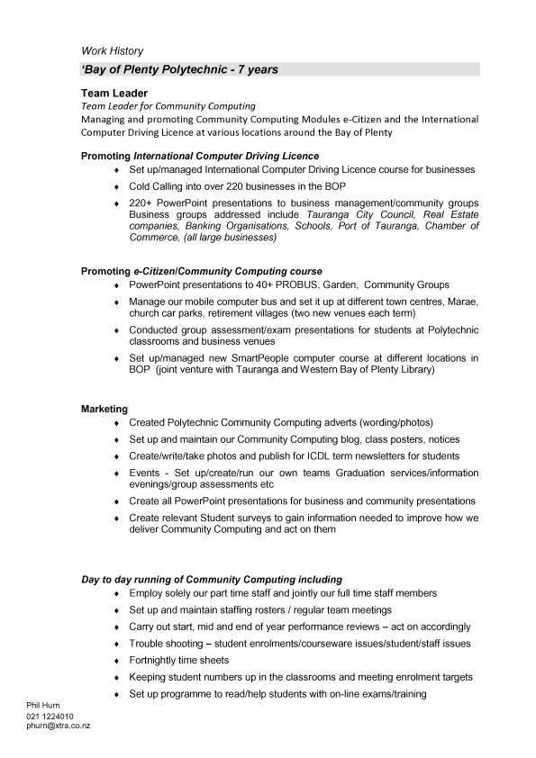 resume format  resume template new zealand