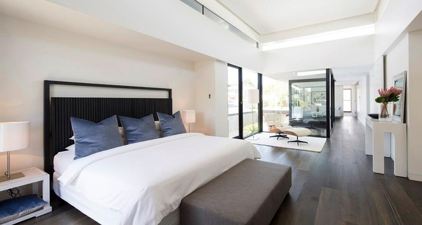 Bedroom in Contemporary Higham Road Home in Melbourne