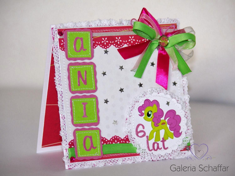słodka różowa karteczka urdzinowa dla dziewczynki galeria schaffar