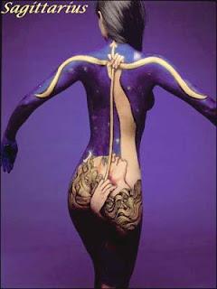 Body paint Zodiac Sagittarius