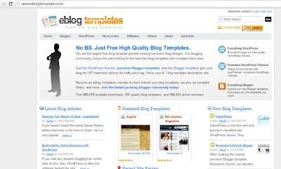 e blog template
