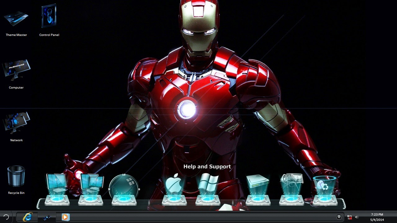 Download Iron Man 3 Windows 7 Theme