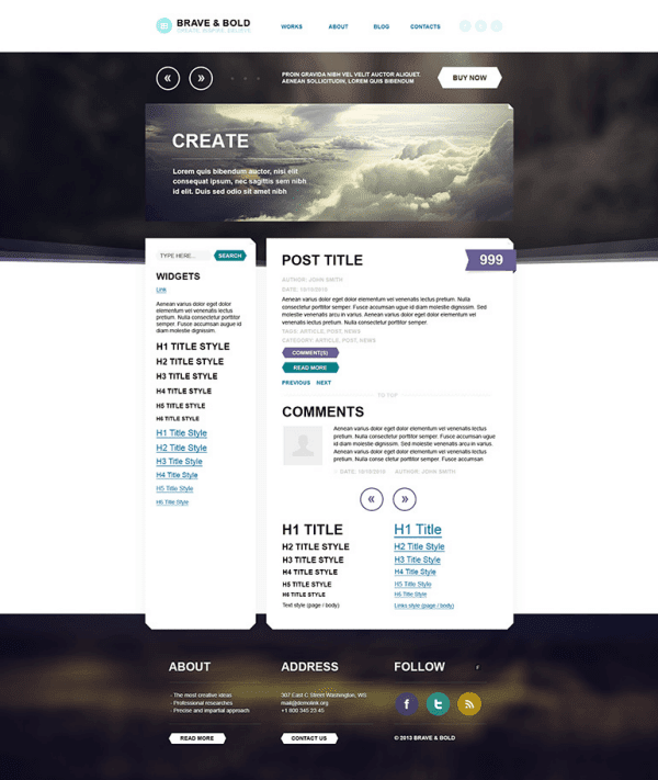 Brave&Bold – New WordPress PSD Template