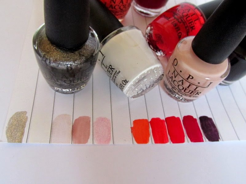 OPI trend on ten swatches
