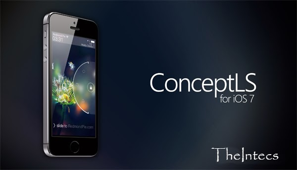 Get the lock screen in iOS last 7 Powered iPhone With ConceptLS