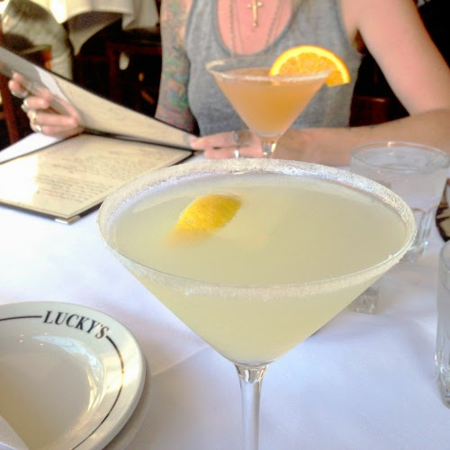 lemon drop cocktail - lucky's montecito