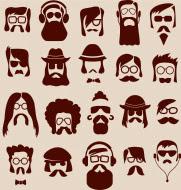 Diferentes estilos de barbas y bigotes de los hipster
