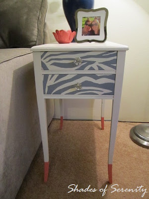 zebra paint table