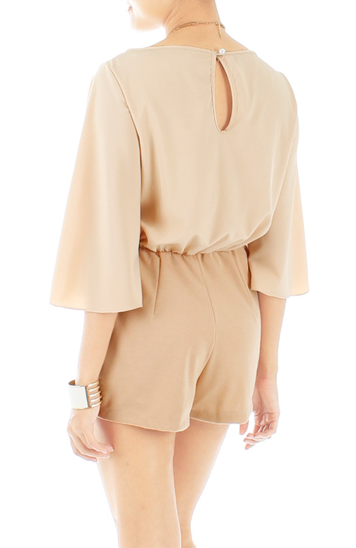 Sand Destiny Playsuit with Bell Sleeves