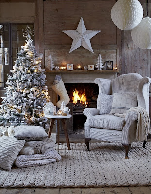 Salón decorado navideño