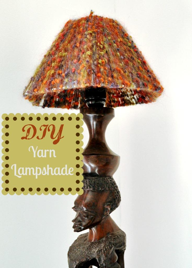 DIY Yarn Lampshade