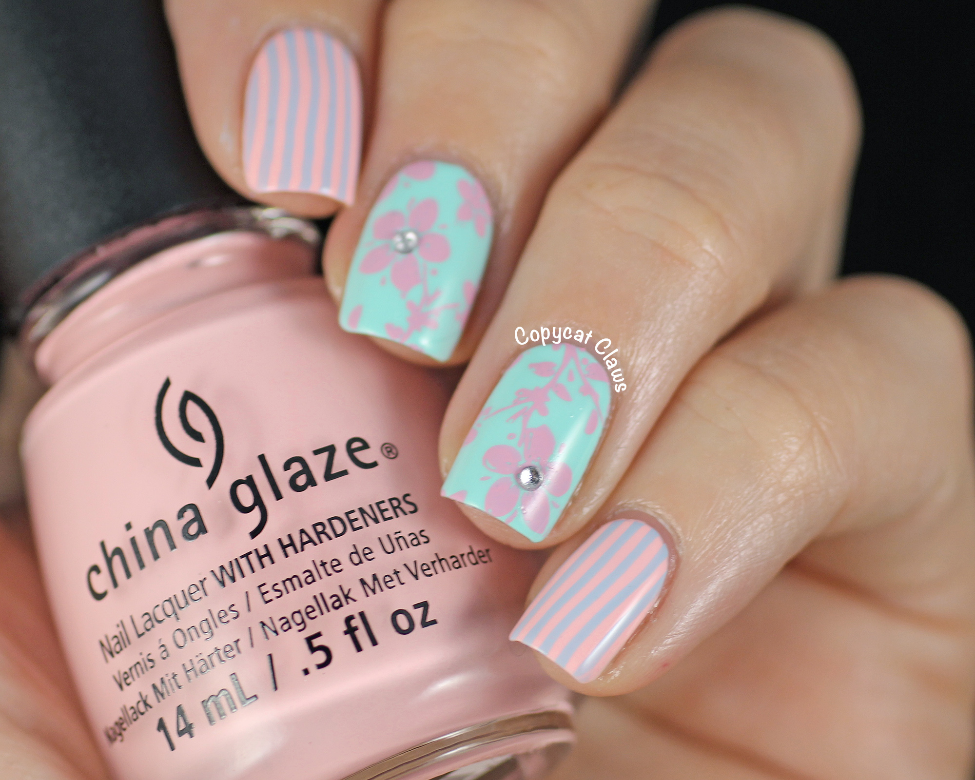 Copycat Claws: Sunday Stamping: Pastels