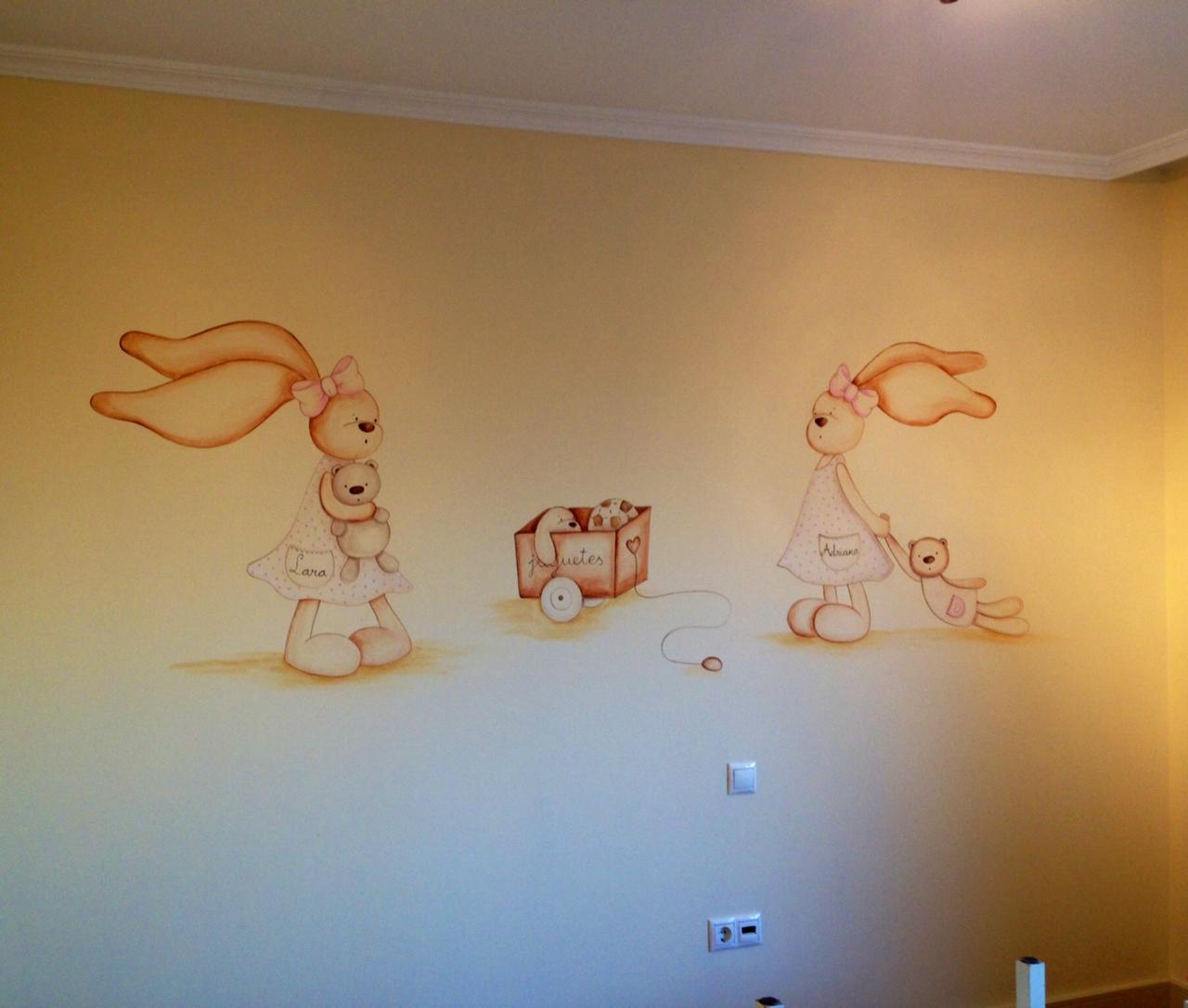 Decopared Dibujos De Conejitos En Paredes - Dibujos-pared-infantil