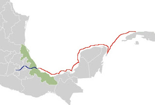ruta de Cortez hacia México Tenochtitlan