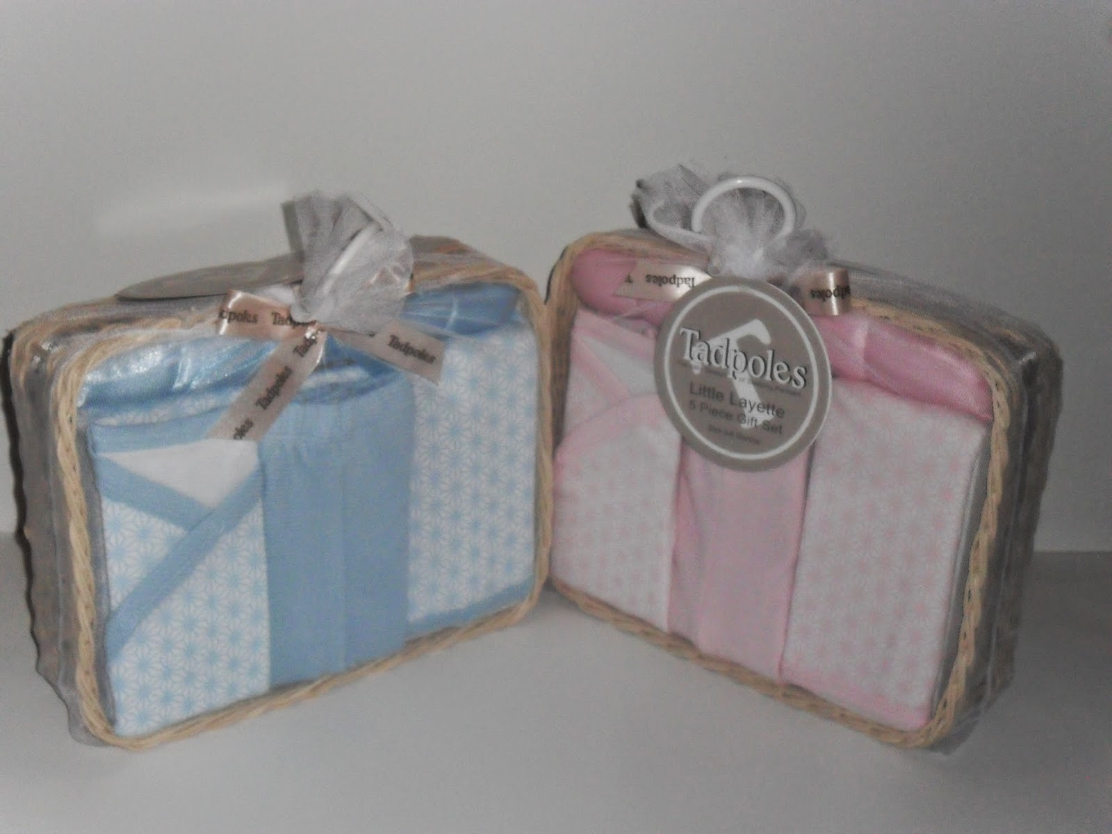 Tadpoles Layette Gift Sets. Review (Blu me away or Pink of me Event)