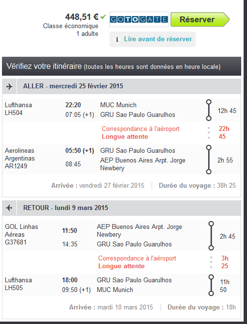 Buenos Aires pas cher avec Lufthansa