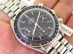OMEGA SPEEDMASTER CHRONOGRAPH REDUCED MOONWATCH BLACK DIAL - AUTOMATIC - MINT CONDITION