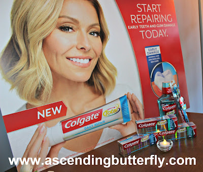 Colgate Total New Daily Repair Toothpaste product Vignette in the Colgate Total Suite at #BlogHer15