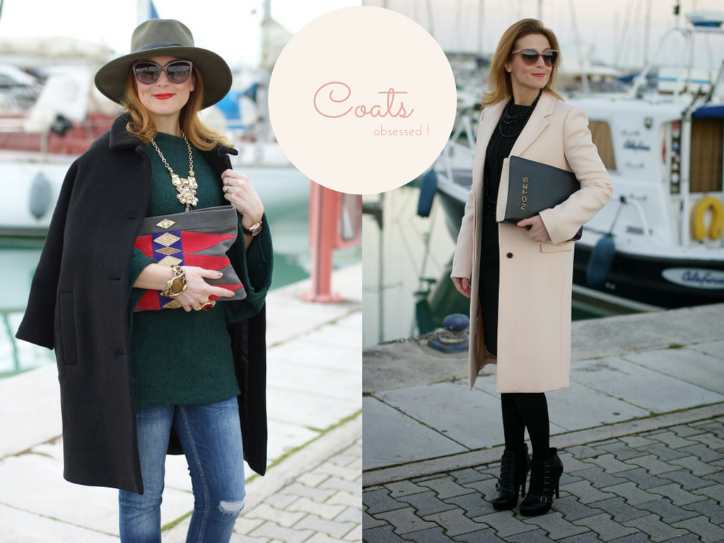 The best winter coats, black coat, pink coat, fashion blogger Fashion and Cookies, fashion blog