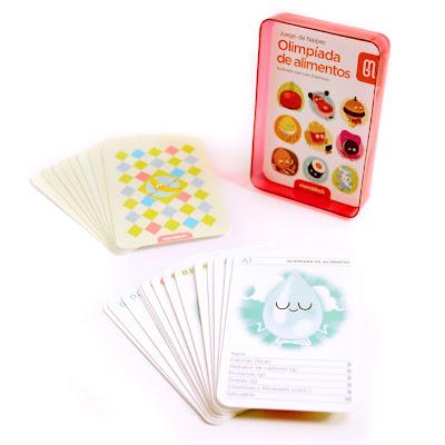 gioco di carte sul cibo, le olimpiadi degli alimenti
