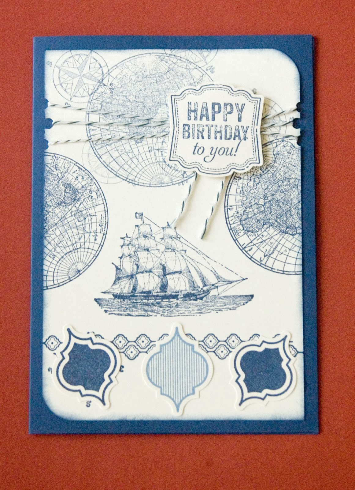 male cards, stampin up, happry birthday