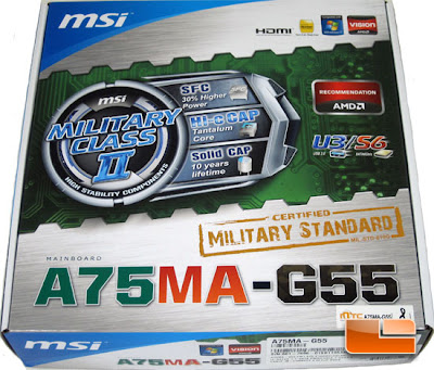 MSI A75MA-G55 Package