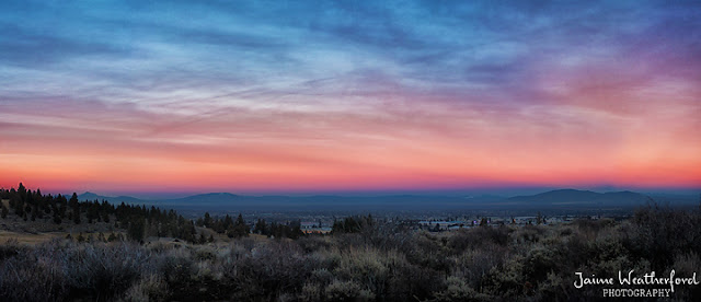 Sunset Awbrey Butte Bend Oregon Groundhog Day Jaime Weatherford