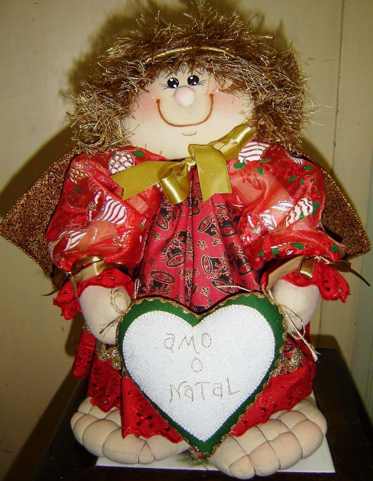 Anjo%2Bnatalino Enfeites e objetos para decoração de Natal