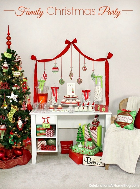 mesa de sobremesas de natal