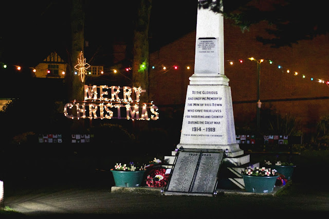 Belper Christmas Decorations, Lights, Memorial Gardens