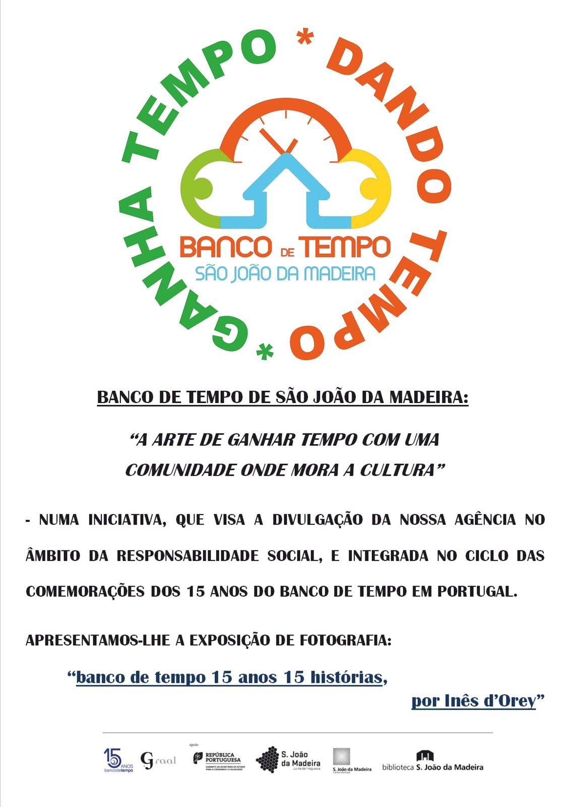 """Exposição de Fotografia """"Banco de Tempo 15 anos, 15 Histórias"""" de Inês D'Orey"""