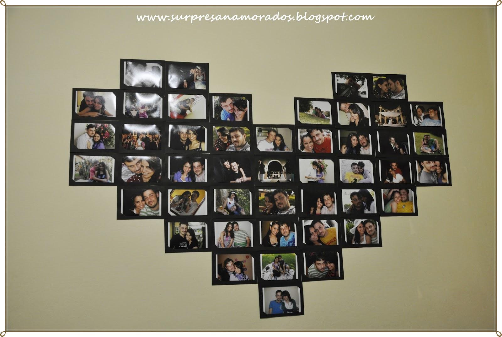Cris Baiense Projeto Dia Dos Namorados Presentes Para Ele E Para  ~ Painel De Fotos Para Quarto Coração