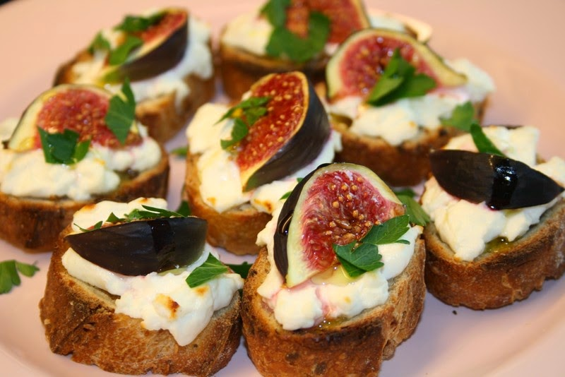Chab 39 blog recette crostini au fromage de ch vre et aux - Cuisiner figues fraiches ...