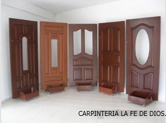 Carpinter a la fe de dios puertas principales y de for Mosquiteros de madera