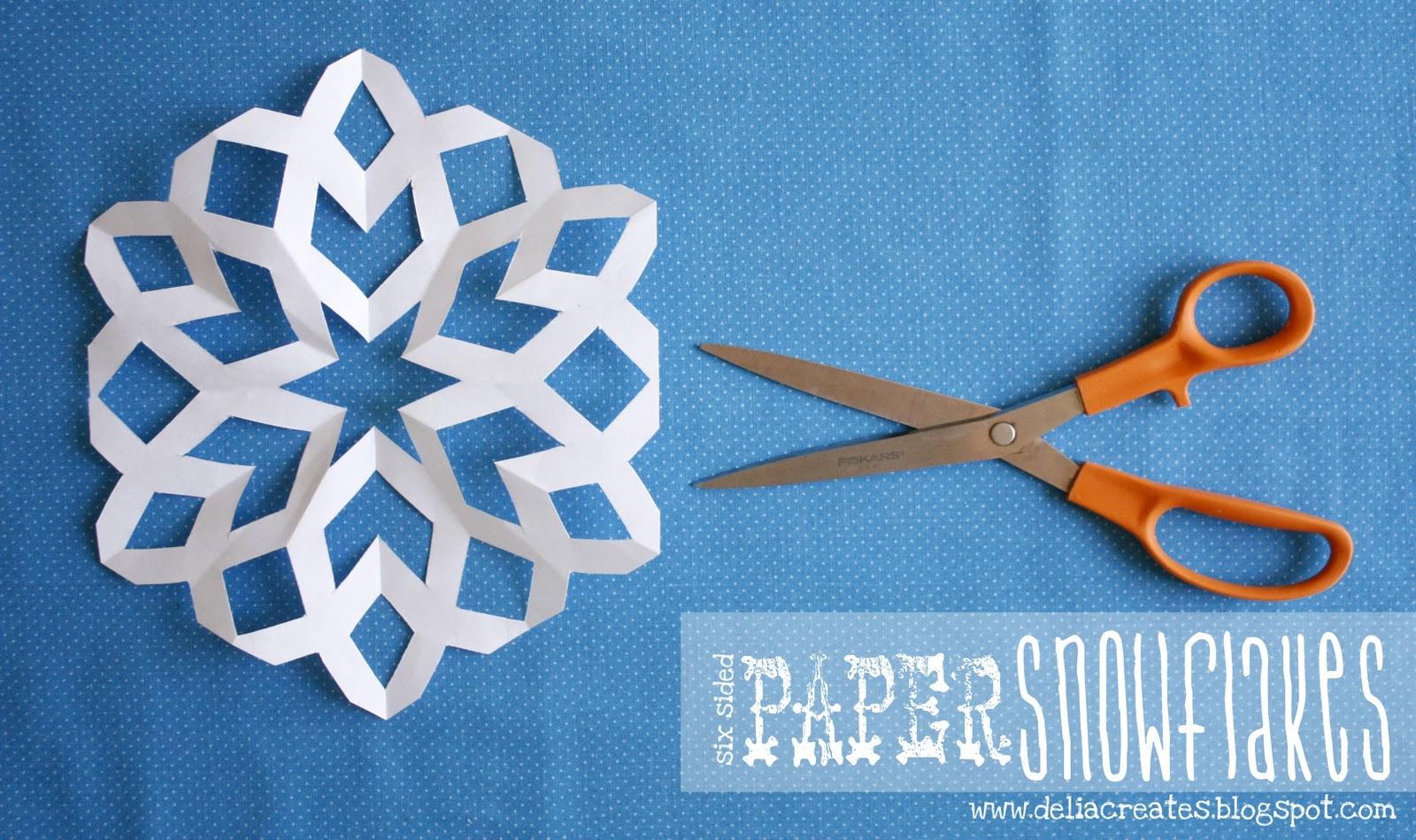 six sided paper snowflakes