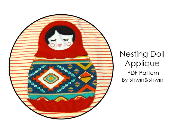 Nesting Doll Applique