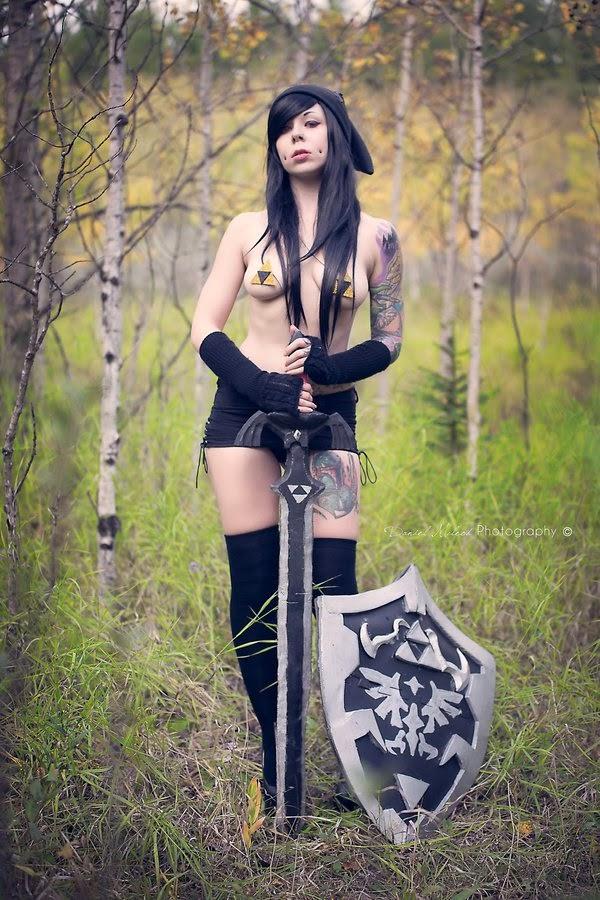 cosplay féminin sexy de dark link