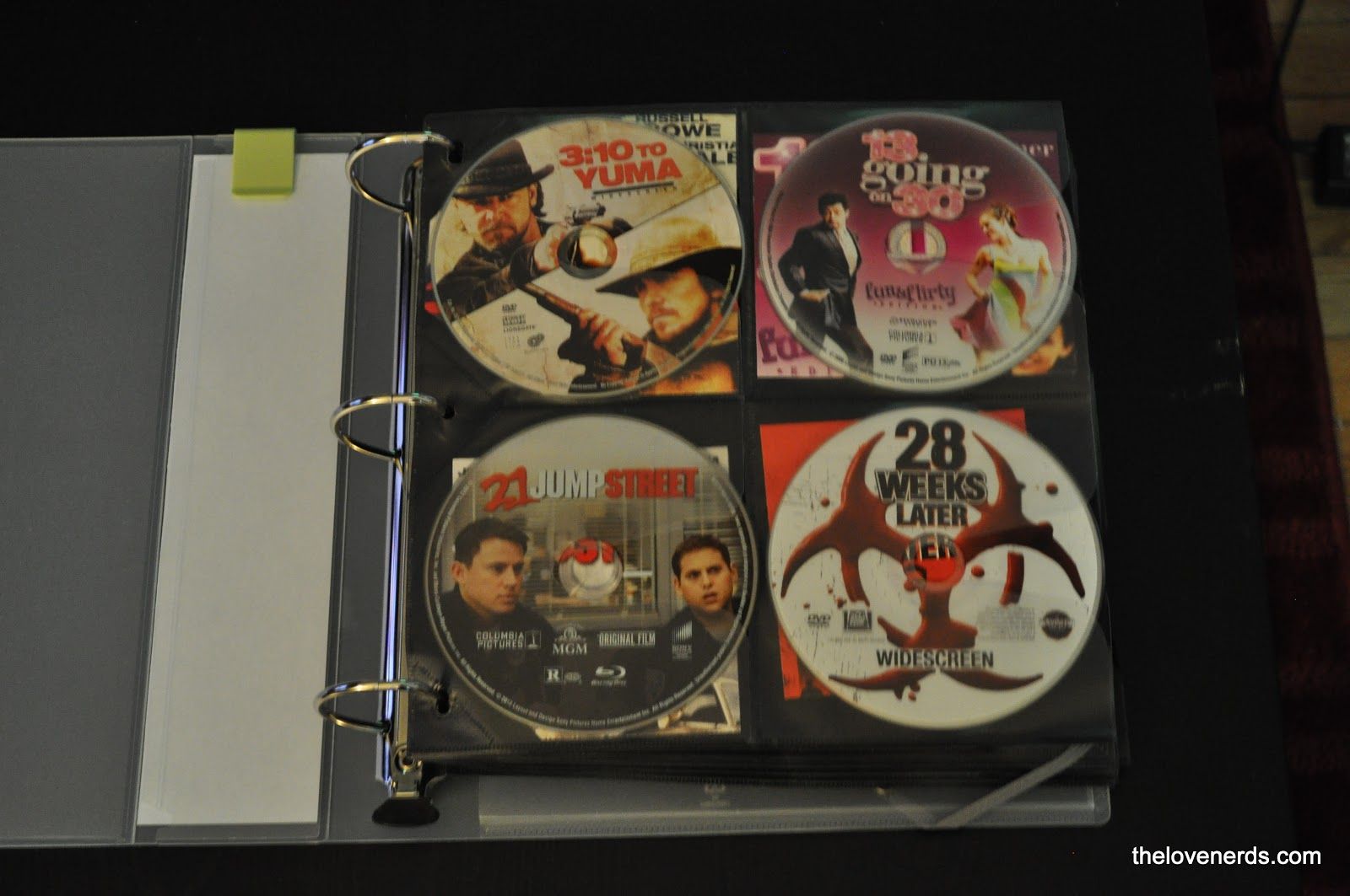 How to save space by using a dvd binder organization - Organizing for small spaces collection ...