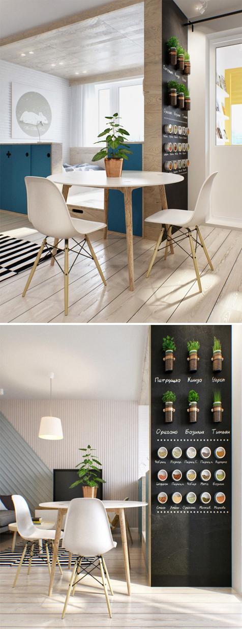 decoração de apartamento ou loft jovem