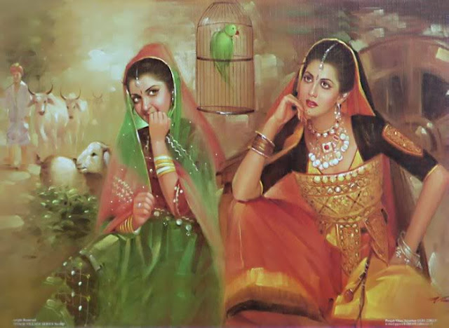 Rajasthani Girls Art Paintings 24