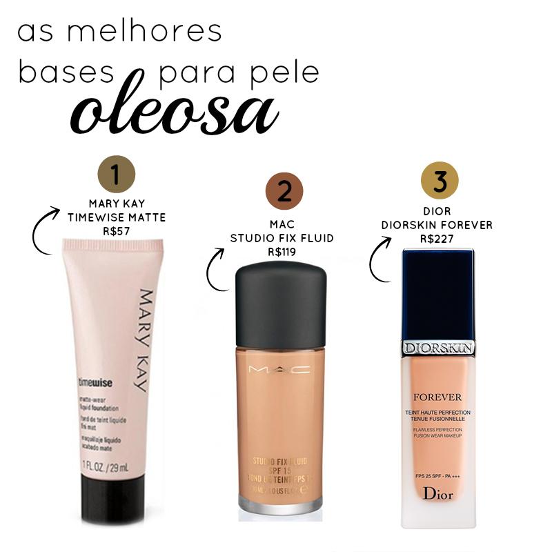 Bases para pele oleosa http:www.cantinhojutavares.com