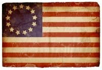 Old American Flag 13 stars